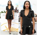 Laura Harrier In Louis Vuitton  @'Blackkklansman' Cannes Film Festival Photocall