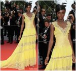 Leomie Anderson  In Twinset   @ Yomeddine' Cannes Film Festival Premiere
