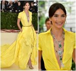 Lily Aldridge  In Ralph Lauren @ 2018 Met Gala