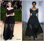 Lily Collins In Givenchy Couture  @  2018 Met Gala