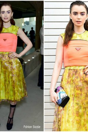 lily-collins-in-prada-front-row-prada-resort-2019