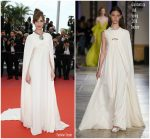 Louise Bourgoin In Giambattista Valli Couture  @  'Yomeddine' Cannes Film Festival Premiere