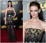 Lydia Hearst  In  Jenny Packham @ 'SOLO: A Star Wars Story' LA Premiere