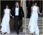 Meghan Markle In Stella McCartney @ Royal Wedding Reception To Prince Harry
