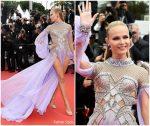 Natasha Poly  In Atelier Versace  @  'Blackkklansman' Cannes Film Festival Premiere