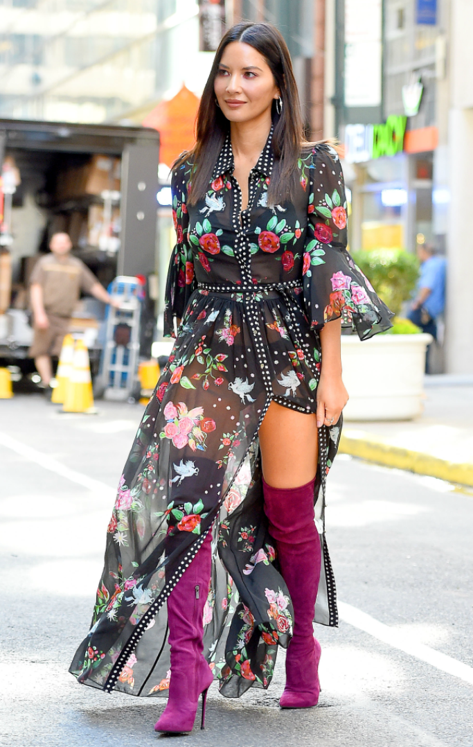 Olivia Munn In Adriana Iglesias @ Sirius XM Studios in NY