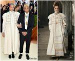 Pharrell Williams & Helen Lasichanh  In Chanel  @ 2018 Met Gala