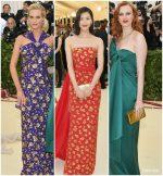 Poppy Delevingne, Karen Elson & Liu Wein  In Michael Kors  @ 2018 Met Gala