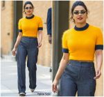 Priyanka Chopra In  Ganni  @ Out In New York City
