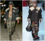 Rihanna  In Gucci @  Gucci Store Opening In New York City