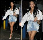 Rihanna In Helmut Lang  @  Out in London