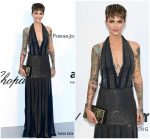 Ruby Rose  In Rosa Chá  @ AmfAR Gala Cannes 2018
