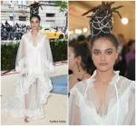 Sasha Lane  In Tory Burch  @ 2018 Met Gala
