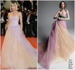 Sofia Boutella  In Vera Wang  @ Fahrenheit 451 Cannes Film Festival Premiere