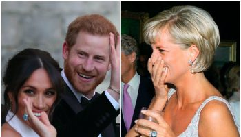 the-duchess-of-sussex-wears-princess-diana-cocktail-ring-for-wedding-reception