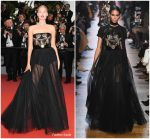 "Toni Garrn  In Elie Saab  @ "" Burning "" Cannes Film Festival Premiere"