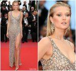 Toni Garrn  In Robero Cavalli Couture @ 'Solo: A Star Wars Story' Cannes Film Festival Premiere