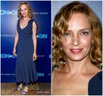 "Uma Thurman  In Gabriela Hearst  @  ""The Con Is On"" New York Screening"