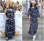Vanessa Paradis In Chanel  @ 'Knife + Heart (Un Couteau Dans Le Coeur)' Cannes Film Festival  Photocall