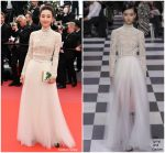 "Wang Likun  In Christian Dior Couture   @ ""Yomeddine"" Cannes Film Festival Screening"