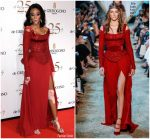 Winnie Harlow  In Elie Saab Couture   @ 2018 DeGrisogono Cannes Party