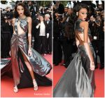 Winnie Harlow  In Jean Louis Sabaji @ 'Solo: A Star Wars Story' Cannes Film Festival Premiere