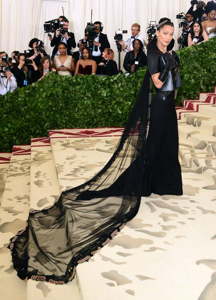Bella Hadid In Gareth Pugh x Chrome Hearts @ 2018 Met Gala