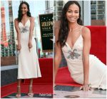 Zoe Saldana In Miu Miu  @  At The Hollywood Walk Of Fame Unveiling
