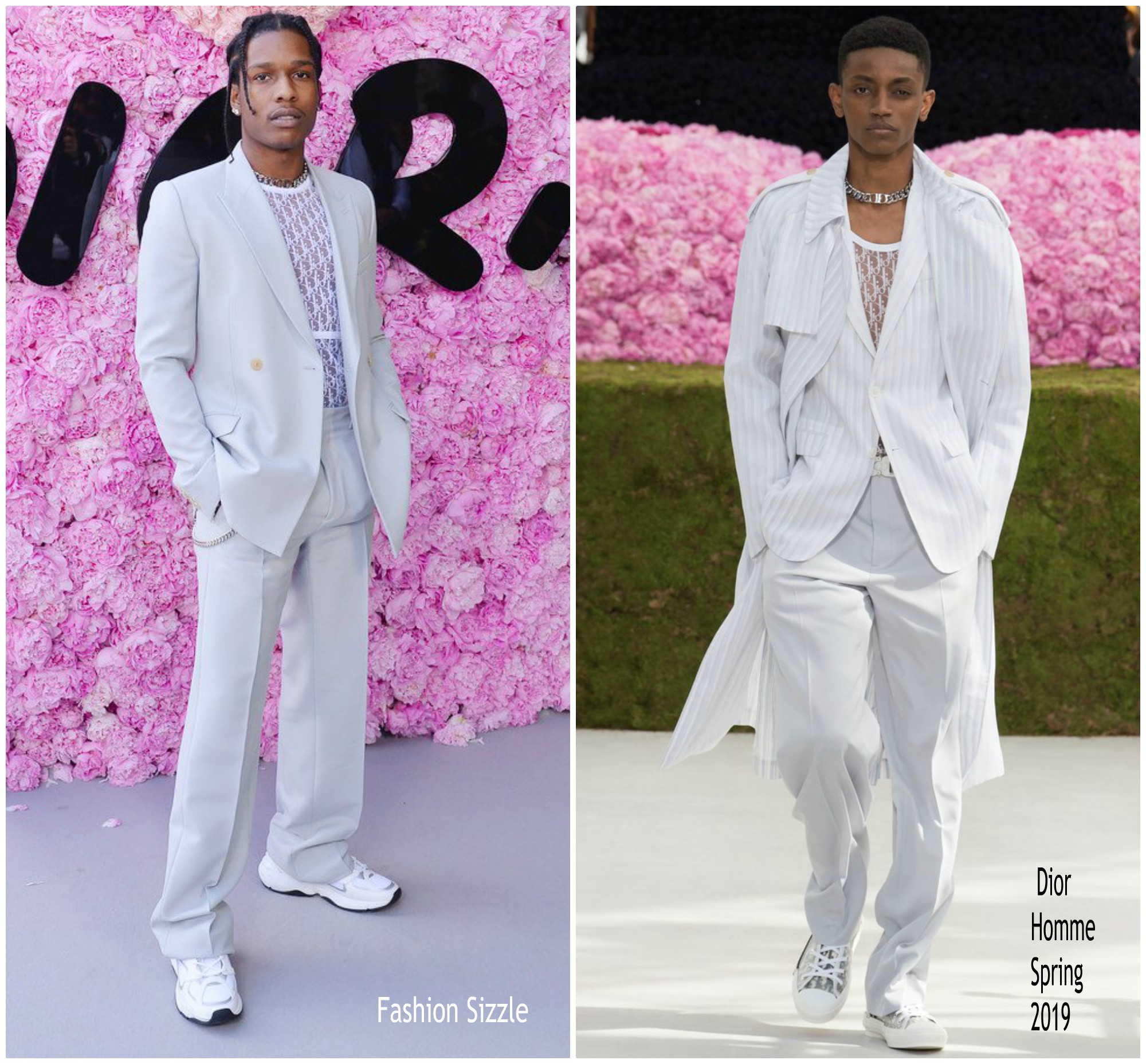 55f02f2888e ASAP Rocky In Dior Homme   Dior Homme Spring Summer 2019 Menswear Show
