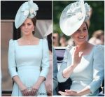 Catherine, Duchess Of Cambridge In Alexander McQueen @   Trooping The Colour