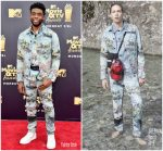 Chadwick Boseman  In Off White  @ 2018 MTV Movie & TV Awards