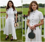 Jenna Coleman In Emilia Wickstead  @ Cartier Queen's Cup Polo
