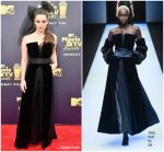 Katherine Langford In Giorgio Armani  @ 2018 MTV Movie And TV Awards