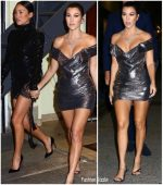 Kourtney Kardashian In  Vivienne Westwood   @ Dinner  at Cipriani