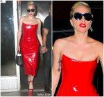 Lady Gaga In  Giusdeppe Di Morabito Out In New York