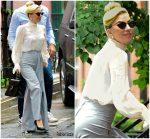 Lady Gaga In Seen &  Shiatzy Chen Out In New York