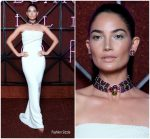Lily Aldridge In Brandon Maxwell  @  Bvlgari Dinner & Party