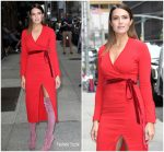 Mandy Moore In Adam Lippes  @ Late Show With Stephen Colbert