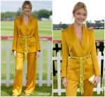 Martha Hunt In Peter Pilotto  @ Cartier Queen's Cup Polo