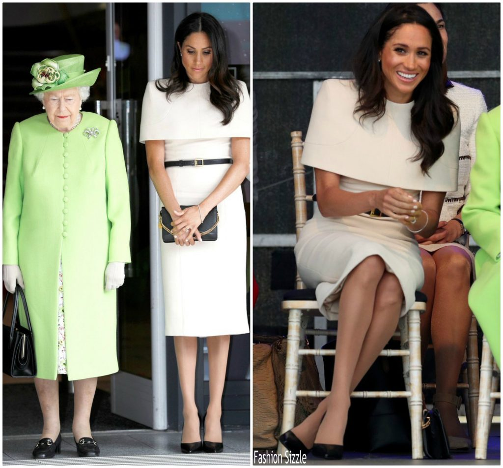 Meghan Markle In Givenchy @ Her First Royal Engagement