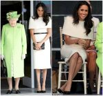 Meghan Markle In Givenchy @  Her First  Royal Engagement With The Queen