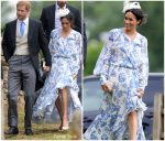 Meghan Markle In Oscar de la Renta  @ Princess Diana's Niece's Wedding