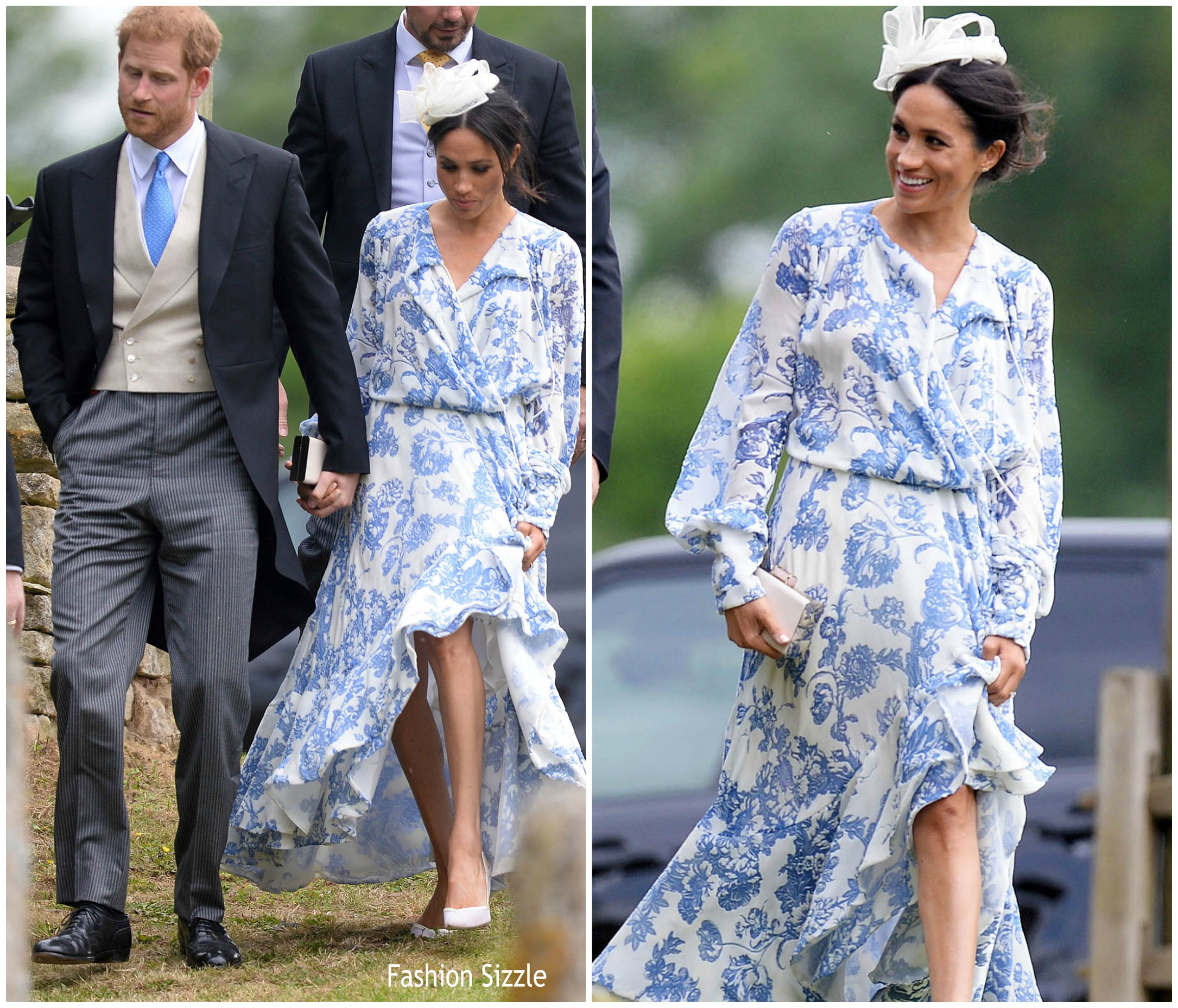 meghan-markle-in-oscar-de-la-renta-princess-dianas-niece-wedding
