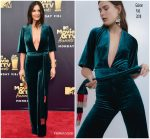 Olivia Munn  In Galvan  @  2018 MTV Movie & TV Awards