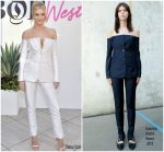 Rosie Huntington-Whiteley In Gabriela Hearst  @ Inaugural BoF West Summit