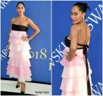 Tracee Ellis Ross In Carolina Herrera  @ 2018 CFDA Fashion Awards