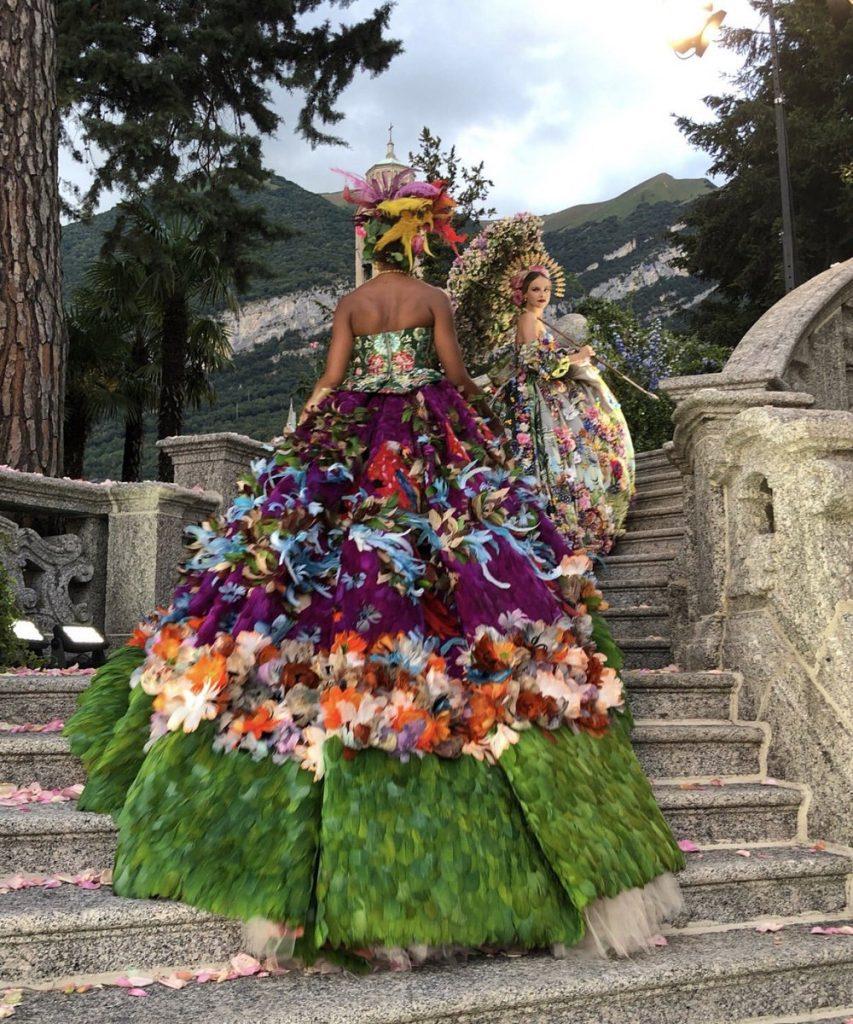 Naomi Campbell @ Dolce & Gabbana Alta Moda Fashion Show In