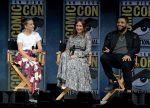Millie Bobby Brown (in Calvin Klein), Vera Farmiga and O'Shea Jackson Jr. @  2018 Comic-Con