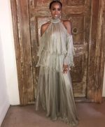 Kelly Rowland In Maria Lucia Hohan  @ Tank and Zena Foster's Wedding