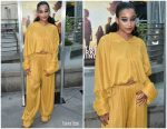 Amandla Stenberg In Mulberry  @ 'The Darkest Minds' LA Screening